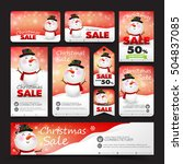 collection of christmas sale...   Shutterstock .eps vector #504837085