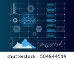 digital user interface . mixed... | Shutterstock . vector #504844519