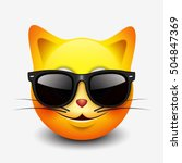 cute cat emoticon  emoji ... | Shutterstock .eps vector #504847369