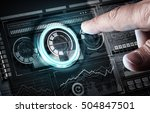 user digital display . mixed... | Shutterstock . vector #504847501