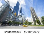 Scenic View Of Columbus Circle...