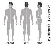 fashion man full length... | Shutterstock .eps vector #504849607