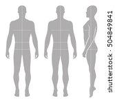 fashion bald man full length... | Shutterstock .eps vector #504849841