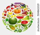 healthy lifestyle fruit and... | Shutterstock . vector #504861019