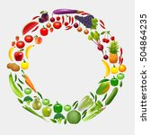 fruits and vegetables in a... | Shutterstock .eps vector #504864235