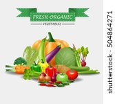 healthy food  fruits and...   Shutterstock . vector #504864271