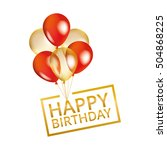 balloons happy birthday on... | Shutterstock .eps vector #504868225