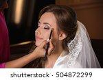 wedding makeup. makeup artist... | Shutterstock . vector #504872299