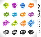 sale stickers set  vector... | Shutterstock .eps vector #504872845