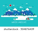 vector winter landscape.... | Shutterstock .eps vector #504876439
