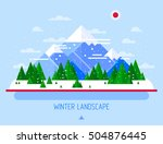 vector winter landscape.... | Shutterstock .eps vector #504876445