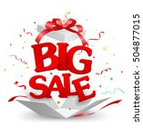 opened big sale out of the box... | Shutterstock .eps vector #504877015