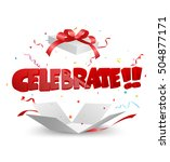 celebrate out of the box with... | Shutterstock .eps vector #504877171