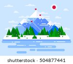 vector winter landscape.... | Shutterstock .eps vector #504877441