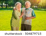 couple of seniors laughing. old ... | Shutterstock . vector #504879715
