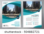 business brochure. flyer design.... | Shutterstock .eps vector #504882721