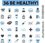 36 be healthy signs. vector | Shutterstock .eps vector #50488468