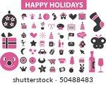 50 happy holidays signs. vector | Shutterstock .eps vector #50488483