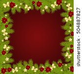 christmas background with fir... | Shutterstock .eps vector #504887827