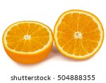 half of ripe orange  isolated... | Shutterstock . vector #504888355