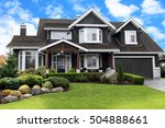 beautiful upscale home in a... | Shutterstock . vector #504888661