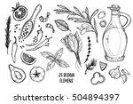 hand drawn vector illustrations ... | Shutterstock .eps vector #504894397
