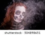 a redheaded woman disguised as... | Shutterstock . vector #504898651