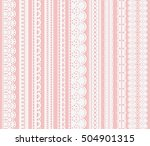 set of seamless lattice borders.... | Shutterstock .eps vector #504901315