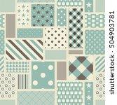 seamless patchwork tile in... | Shutterstock .eps vector #504903781