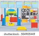 interior repair shop. the car... | Shutterstock .eps vector #504905449