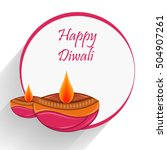 celebration of diwali with... | Shutterstock .eps vector #504907261