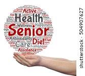 concept conceptual old senior... | Shutterstock . vector #504907627