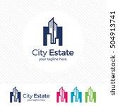 real estate logo design vector... | Shutterstock .eps vector #504913741