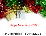 merry christmas and happy new... | Shutterstock . vector #504922231