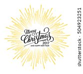 merry christmas and happy new... | Shutterstock .eps vector #504923251