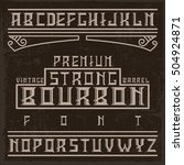 handcrafted bourbon font with... | Shutterstock .eps vector #504924871