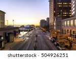 panoramic view of boston in... | Shutterstock . vector #504926251