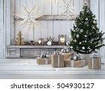 3d rendering. beautiful gift... | Shutterstock . vector #504930127