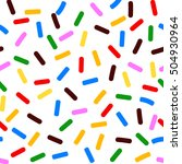 seamless pattern with powder... | Shutterstock .eps vector #504930964