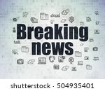 news concept  painted black... | Shutterstock . vector #504935401
