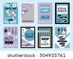 collection of sale banners ...   Shutterstock .eps vector #504935761