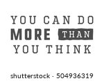 vintage slogan with motivation. ... | Shutterstock . vector #504936319