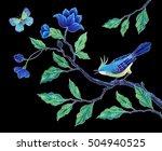decorative bird hand painted... | Shutterstock . vector #504940525