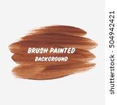 art textured brush painted... | Shutterstock .eps vector #504942421