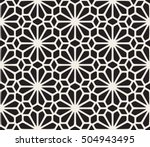 vector seamless black and white ... | Shutterstock .eps vector #504943495