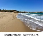 the beach in chania. low but... | Shutterstock . vector #504946675