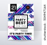 invitation disco party poster...   Shutterstock .eps vector #504947164