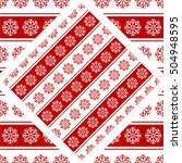 pattern of snowflakes christmas ... | Shutterstock .eps vector #504948595