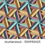 seamless triangular geometry... | Shutterstock . vector #504950425