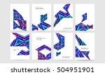 geometric background template... | Shutterstock .eps vector #504951901